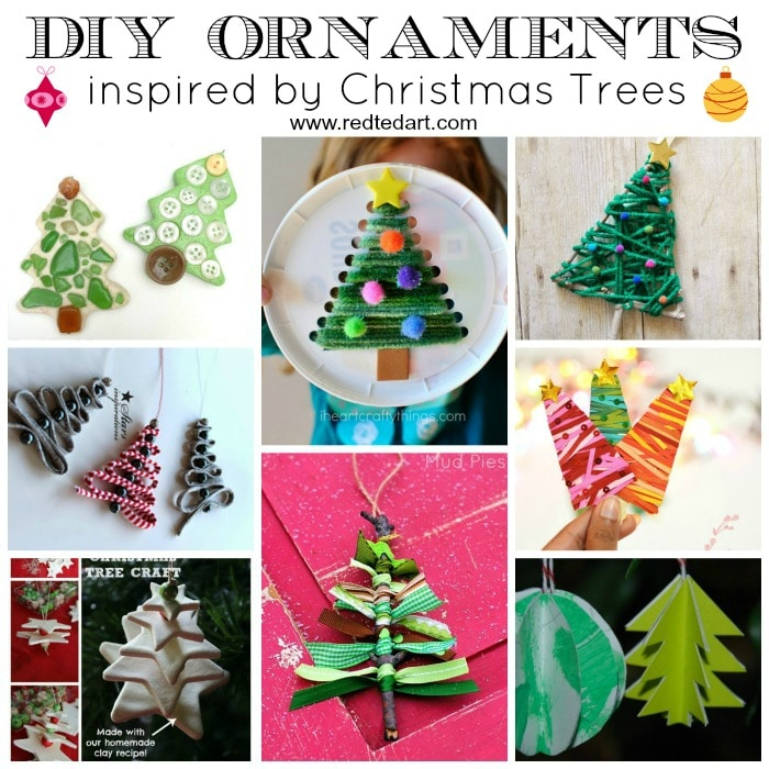 Christmas Tree Craft.Easy Christmas Tree Crafts For Kids Red Ted Art