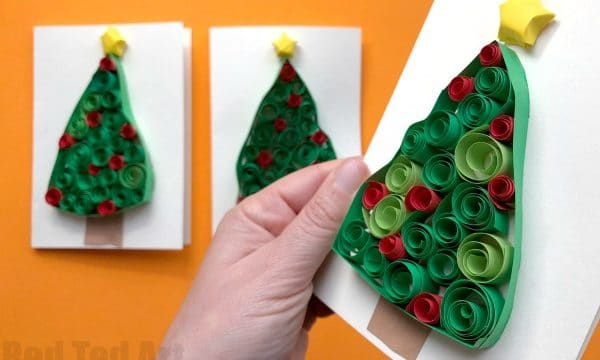 Quilled Christmas Tree Cards