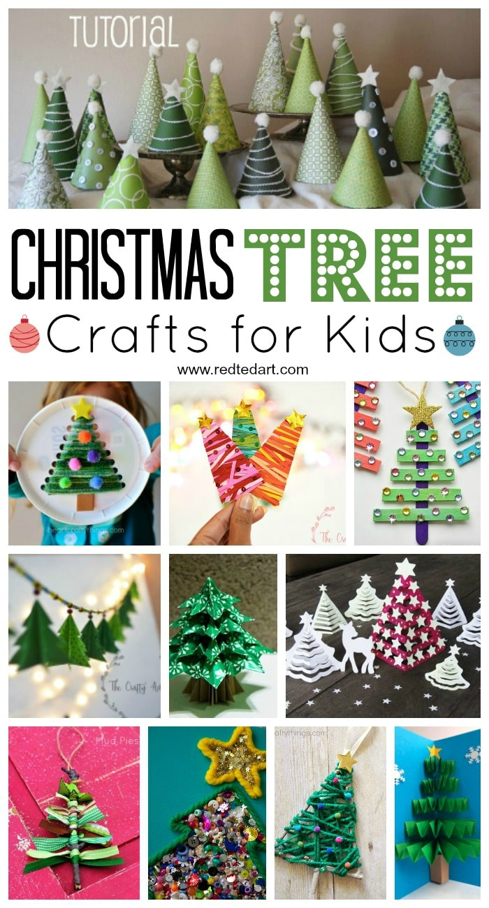 Easy Christmas Tree Crafts For Kids Red Ted Art Make Crafting With Kids Easy Fun
