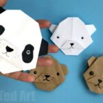 Easy Origami Bear – Panda Bear – Polar Bear – Brown Bear