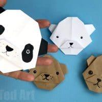 Easy Origami Bear – Panda Bear – Polar Bear – Brown Bear