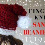 Finger Knitting Santa Hat Project