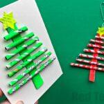 Newspaper Christmas Tree Ornaments DIY