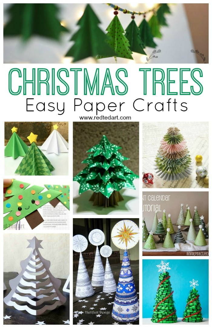 Paper Christmas Tree Craft Ideas