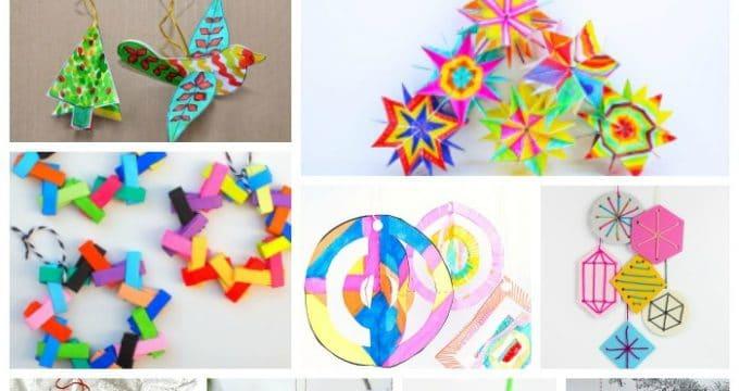 Paper Christmas Ornament DIY Ideas