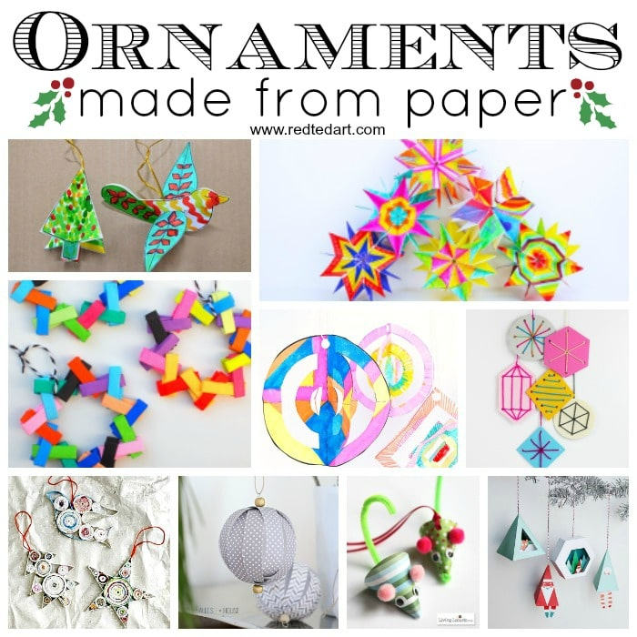 Paper christmas ornament diy ideas red ted arts blog paper christmas ornament diy ideas love paper crafts love christmas ornaments combine the solutioingenieria Choice Image