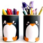 DIY Penguin Pencil Holder