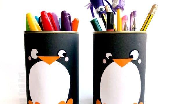 DIY Penguin Pencil Holder