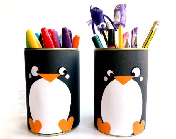 Exceptionnel DIY Penguin Pencil Holder   Teehee, How Cute Are These Little Penguin Desk  Tidies?