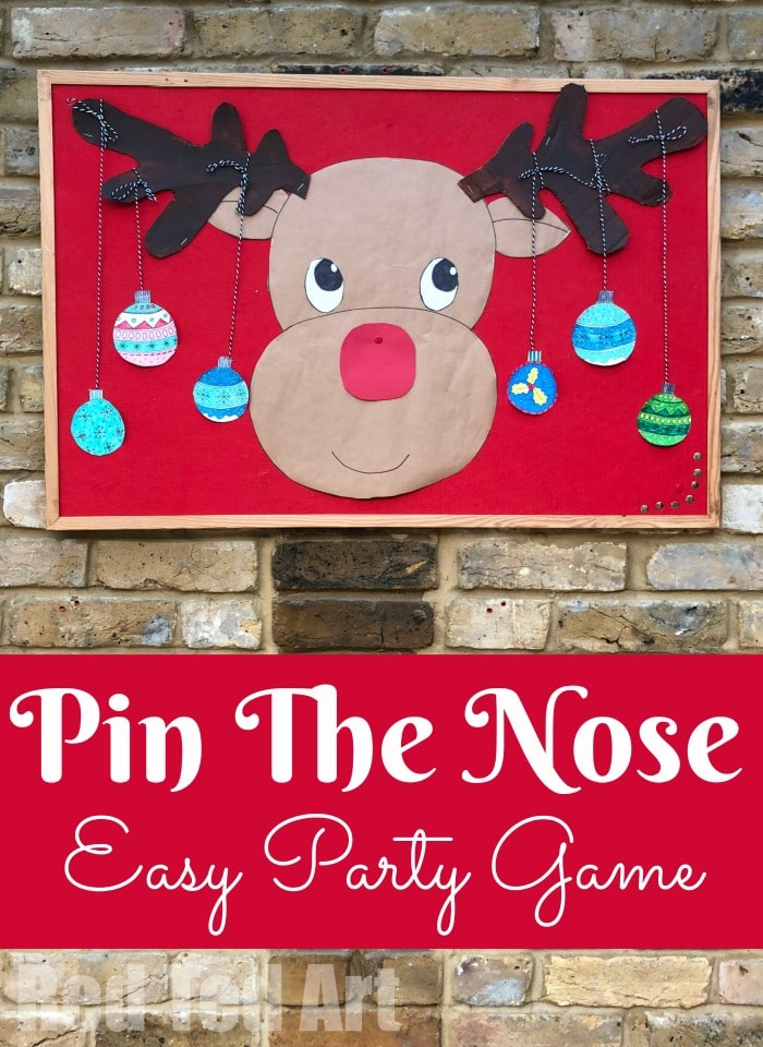 photograph relating to Pin the Nose on Rudolph Printable named Pin the Reindeer Nose - Crimson Ted Artwork