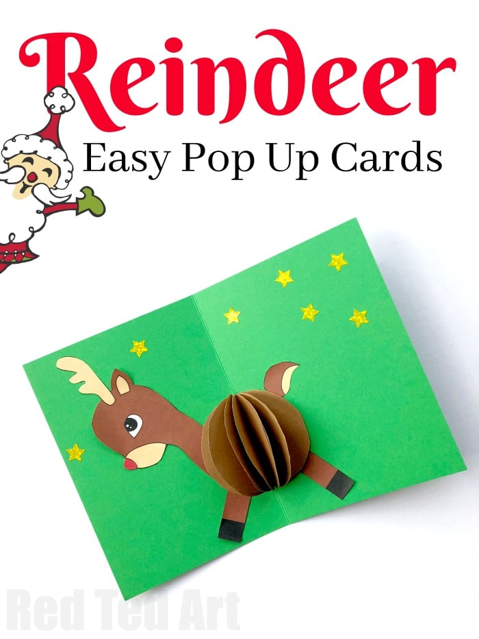 3d reindeer card diy red ted art s blog