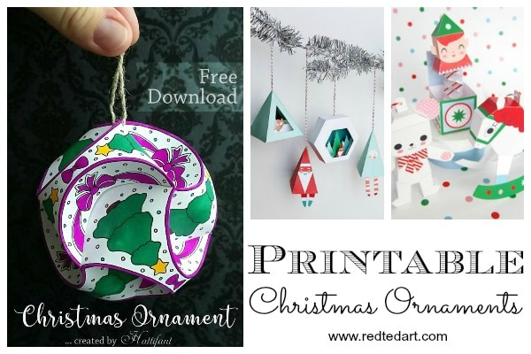 Free Printable Christmas Ornaments.Paper Christmas Ornament Diy Ideas Red Ted Art