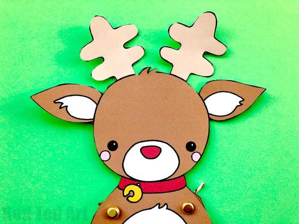 paper reindeer puppet template red ted art s blog
