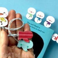 Easy Kawaii Snowman Bookmark Designs