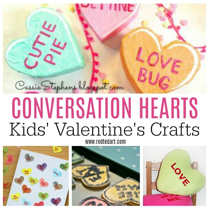 Conversation Heart Crafts - Red Ted Art\'s Blog