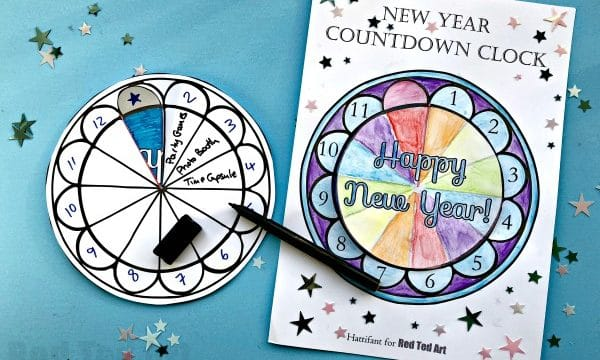 Countdown Clock Printable for New Year's Eve