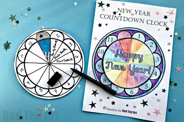 2019 Countdown Clock for New Years Eve #newyearseve #printable #kids #countdown #nye #newyearseve2018