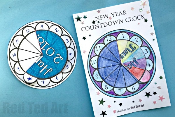 Countdown Clock for New Years Eve #newyearseve #printable #kids #countdown #nye #newyearseve2018
