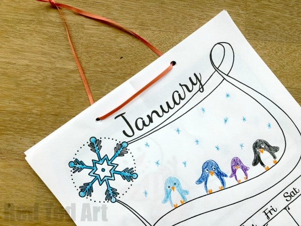 Free Cute Printable Calendar 2019 - Red Ted Art