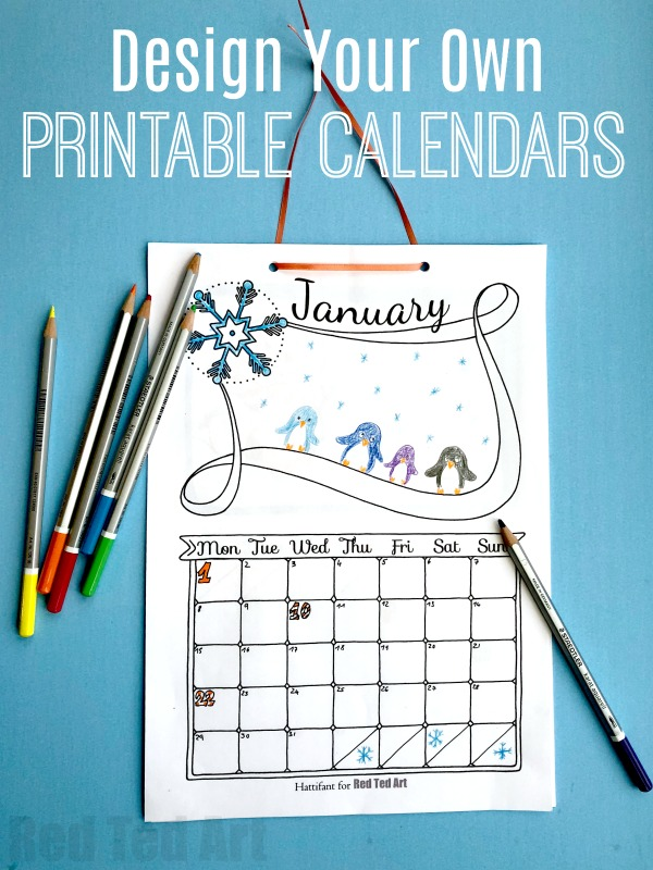 Diy Year Calendar : Free cute printable calendar red ted art s