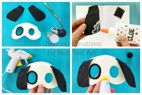 3D Dog Mask DIY - Red Ted Art\'s Blog