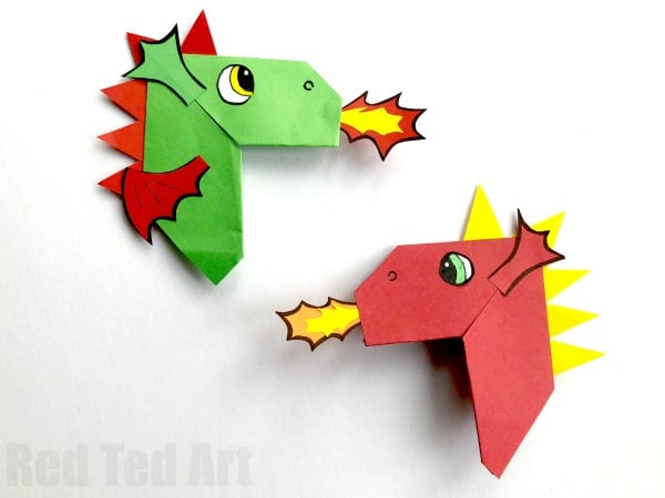 How To Make an Easy Origami Dragon - YouTube | 450x600