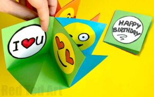 Emoji pop up cards