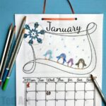 Free Cute Printable Calendar 2018