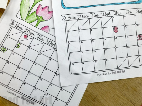 Diy Calendar Template : Free cute printable calendar red ted art s