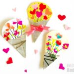 Heart Bouquet Cards – Valentine's Cards or Mother's Day Cards