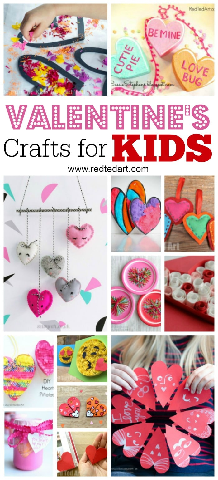 Kids 39 valentines day ideas red ted art 39 s blog for Toddler valentine craft ideas