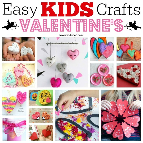 Kids Valentines Day Ideas Red Ted Arts Blog