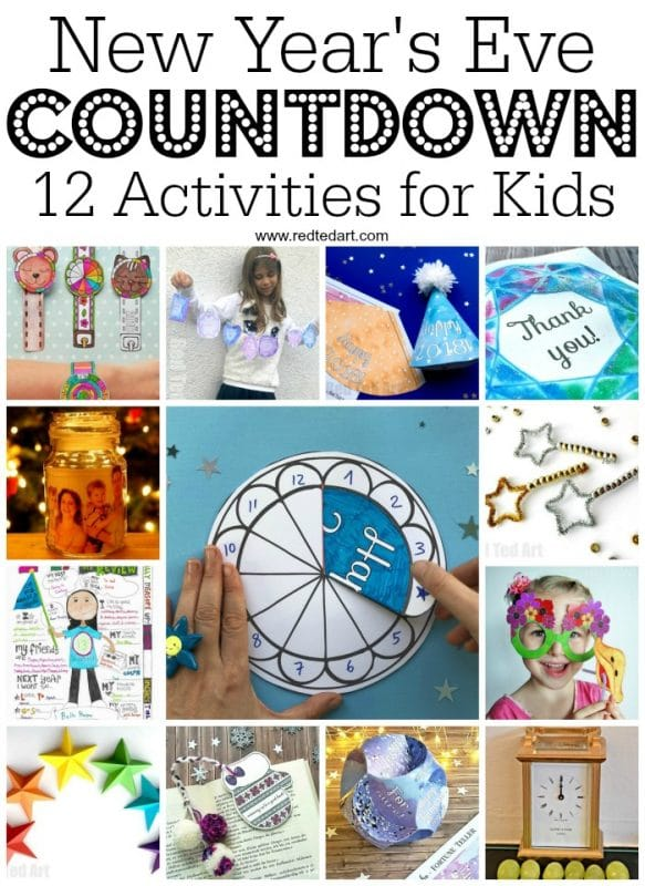 2019 Countdown Activities for Kids - Happy New Year - New Year's Eve Crafts