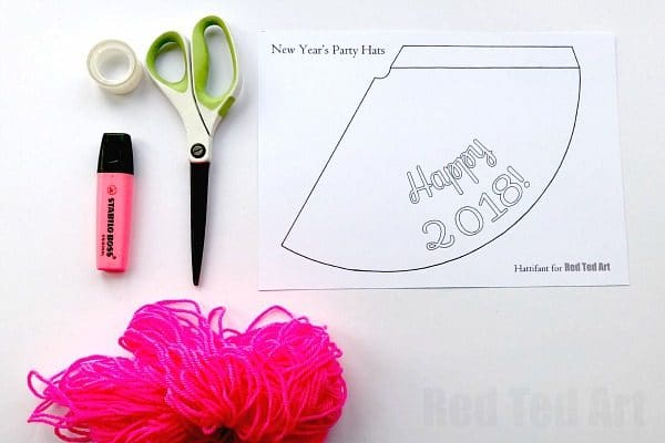 2019 New Year's Eve Party Hat Printables - Use the templates to decorate your own or choose from our ready made party hats. Such a fun New Year's Eve Printable and activity for kids. The template can be used for any diy Party too! #newyears #newyearseve #party #partyhats #printable #templates #kids #newyearseve2019