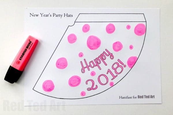 2019 new years eve party hat printables use the templates to decorate your own or