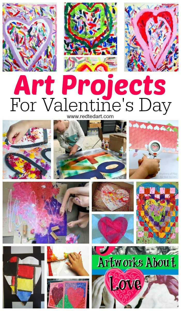 Valentines Art Projects - looking to get arty this Valentine's Day? Here are some great Process Art, new Art techniques and Great Artists Projects for kids to try out and learn about this Valentine's Day. From Pop Up, to spaghetti painting and more. #Valentines #valentinesday #processart #greatartists #artprojects #artprojectsforkids
