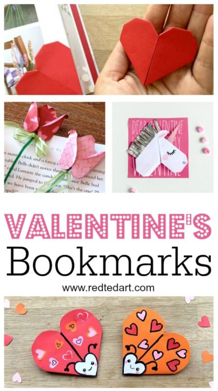 picture regarding Printable Valentines Craft named Printable Valentines Bookmark Styles - Crimson Ted Artwork