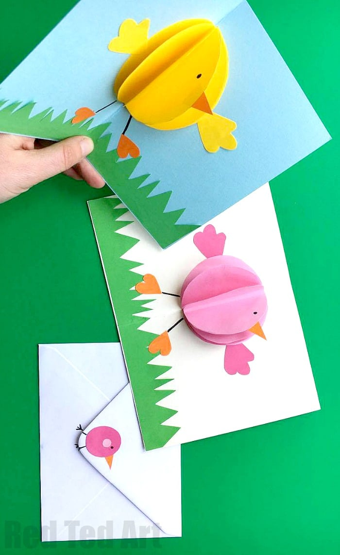 easter egg paper weaving pop up card for easter ted s 4321