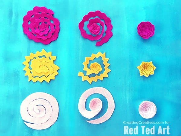 How to make felt flowers #flowers #feltflowers #spring #summer
