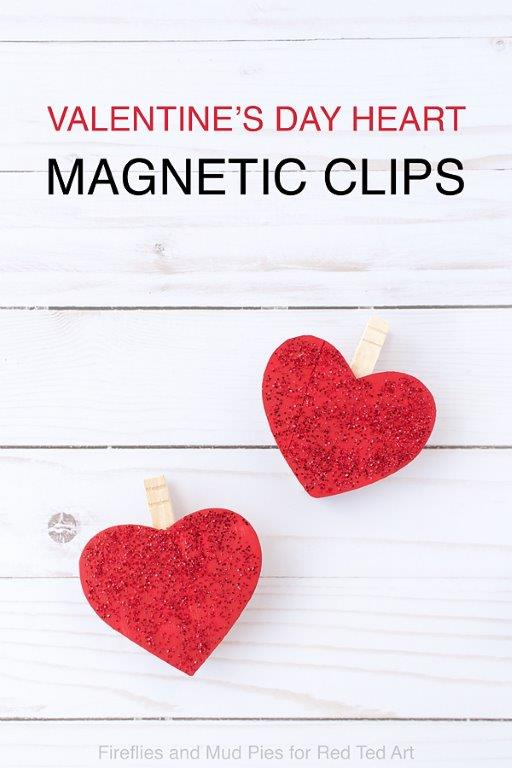 DIY Heart Magnets - make these cute magnetic clips for your fridge this Valentine's Day or Mother's Day. They look adorable and a practical too #mothersday #valentinesday #valentines #hearts #fridgemagnets
