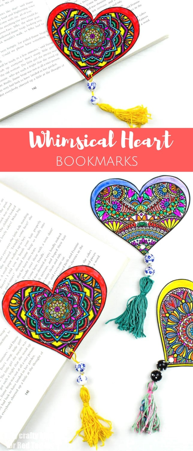 Get your free Valentine's Day Heart Printable today!! Such a cute Printable Valentine's Day Bookmark Design or Valentine's Day Decoration. Love the free printable. #printable #valentines #bookmarks