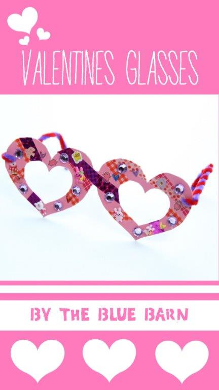 "Kids' Valentine's Glasses - make this printable set of fabulous Heart Glasses and ""see your true love"". Adorable Kids Valentines idea #printables #valentinesday #valentines #kidsvalentines"