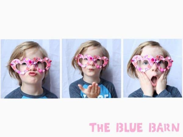 """Kids' Valentine's Glasses - make this printable set of fabulous Heart Glasses and """"see your true love"""". Adorable Kids Valentines idea #printables #valentinesday #valentines #kidsvalentines"""