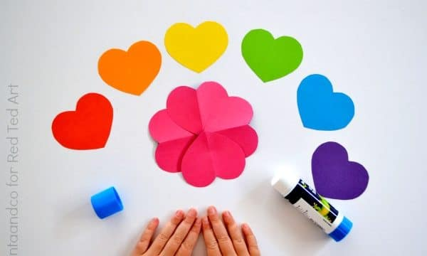 Love Heart Paper Flower