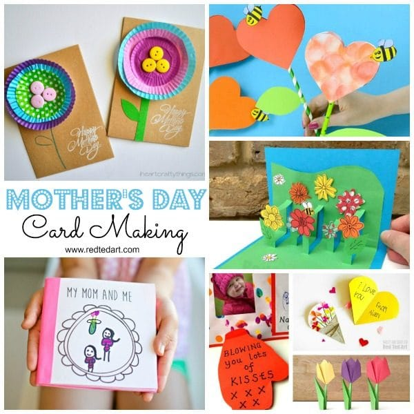 Craft Card Making Ideas Part - 18: My Top Motheru0027s Day Card Ideas For Kids To Make. Adorable Motheru0027s Day Cards  For