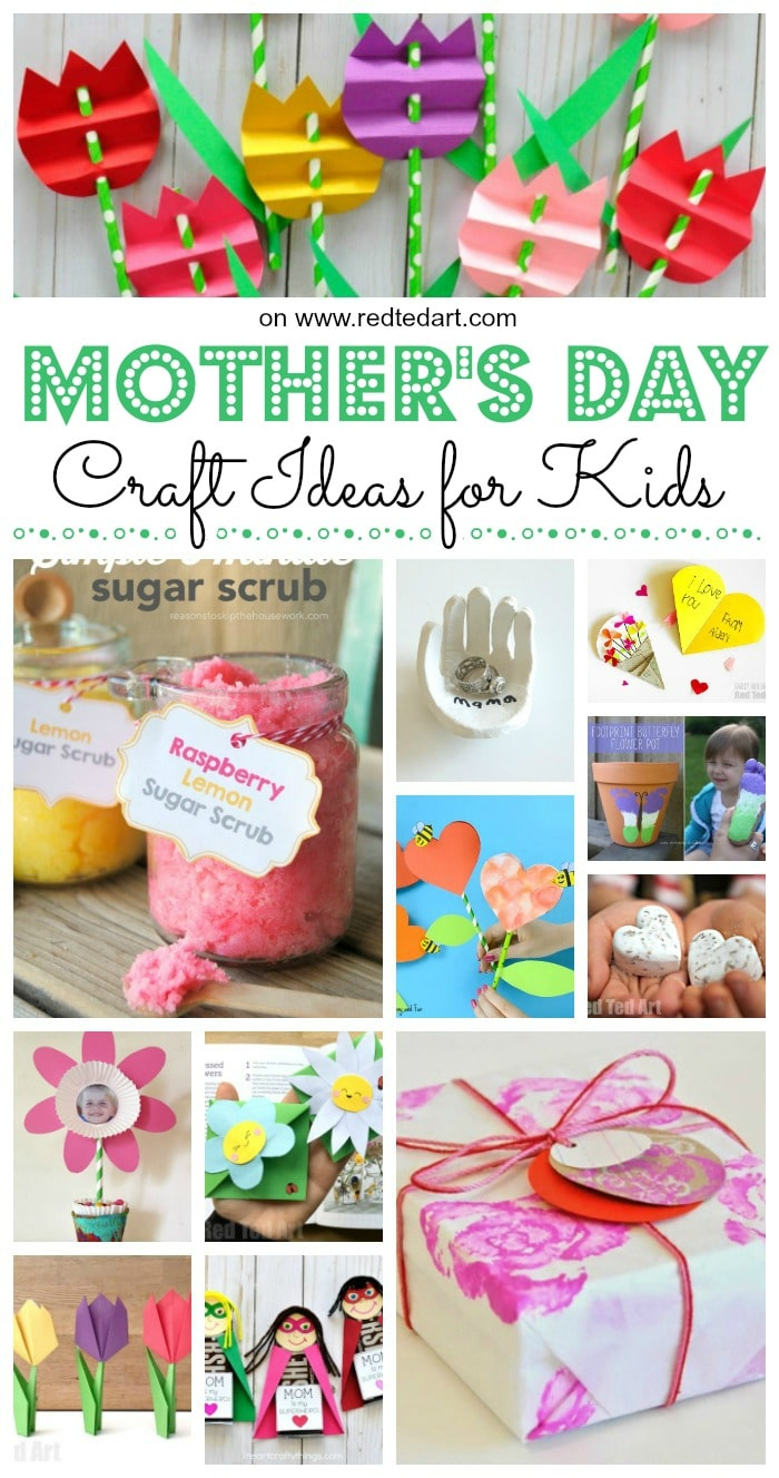 Top mother s day crafts for kids red ted art