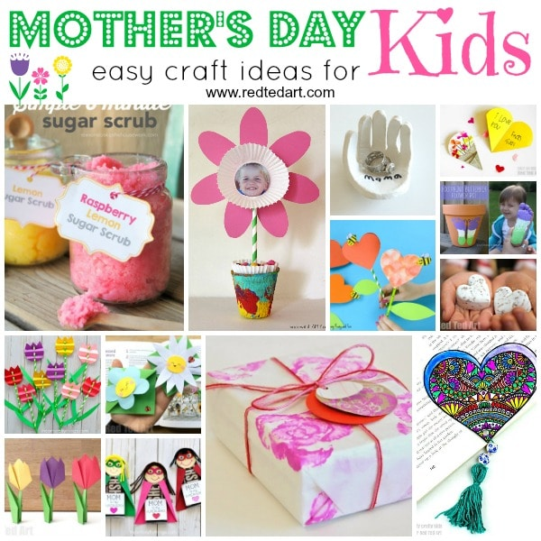 Top Mothers Day Crafts For Kids Red Ted Arts Blog