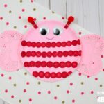Bee Mine Paper Plate Valentines