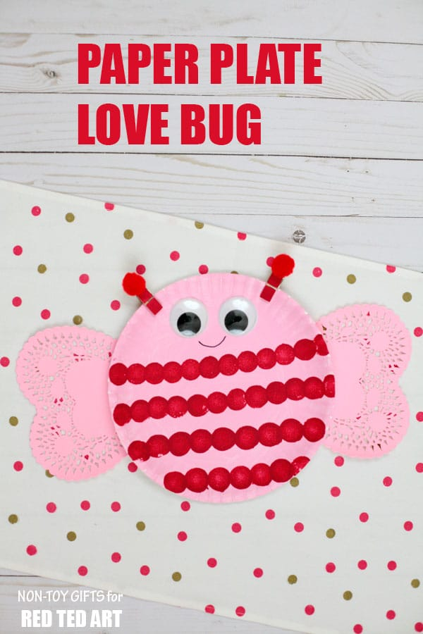 Adorable Love Bug Paper Plate Valentines for Preschoolers. These little Love Bugs or Bee Mine  sc 1 st  Red Ted Art & Bee Mine Paper Plate Valentines - Red Ted Art\u0027s Blog