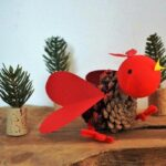Pine Cone Bird Ornament